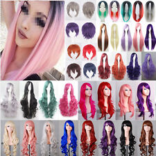 Womens Long / Short Wig Straight / Curly Wavy Hair Full Wigs Anime Party Cosplay