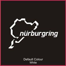 NUOVO stile NURBURGRING CIRCUITO DA CORSA Decalcomania, tenere traccia, vinile, Adesivo, grafica, N2017