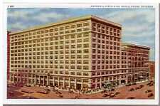 1915 Postcard Marshall Field & Company Chicago Trolleys Buses Illinois Unposted