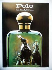 PUBLICITE-ADVERTISING :  RALPH LAUREN  Polo 1990 Eau de Toilette,Parfums,Chevaux