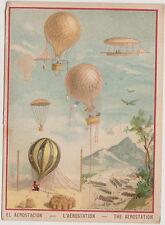 TRES JOLIE IMAGE  LES BALLONS-AEROSTATION-MONTGOLFIERES/Lith VIEILLEMARD & Fils