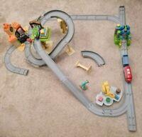 Massive Chuggington interactive Train Set Bundle with 3 vehicles + lots extras.
