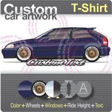 Custom T-shirt 1996 97 98 99 00 Civic hatchback Si EK not affiliated with HONDA