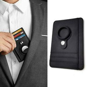 Leather For Airtag Wallet Card Protective Case Shockproof Cov Protect Anti F1A4