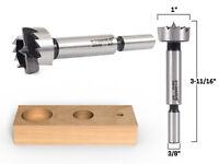 """1"""" Diameter Steel Forstner Drill Bit - 3/8"""" Shank - Yonico 43015S"""