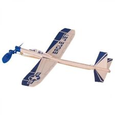 Segelflugzeug Eagle Jet; mit Gummimotor, Flieger aus Holz