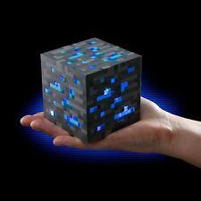 MINECRAFT Thinkgeek Light-Up Diamond ORE Night Light Cube 3 Levels Of Light