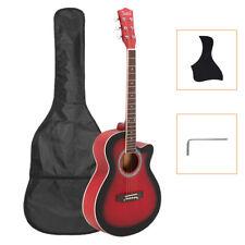 Glarry GT501 40 inch Spruce Front Cutaway Folk Guitar red new 712