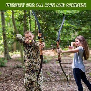 Takedown Recurve Bow and arrow Archery Hunting bow 15-60lb. Right & Left handed