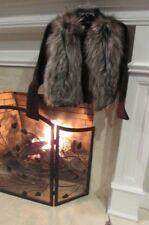 Brown Suede and Fur Jacket Size Unknown - Vintage