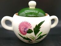 Vtg Older Stangl Pottery Sugar Bowl With Lid Collectible Thistle Pattern, USA