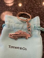 TIFFANY RARE TAXI CAB KEYCHAIN STERLING SILVER 925 T & CO VINTAGE EXCELLENT AUTH