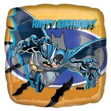 """Batman JOYEUX ANNIVERSAIRE 17 """" carré ballon plat - DC Décoration de fête"""