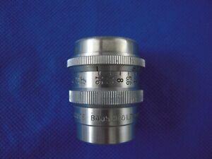 Bausch & Lomb 25mm f/2.7 Animar Balcote C mount Lens