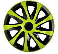 """4 Radkappen Radzierblenden 14 Zoll 14"""" Draco CS schwarz grün black green"""