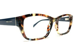Prada VPR18O NAG-1O1 Womens Blue Tortoise Cat's Eye Rx Eyeglasses Frames 54/18