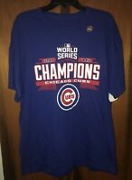 New Chicago Cubs VF Imagewear 2016 World Series Champions T-shirt. Sz Med & Blue