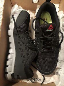 Reebok Sublite Work Black Alloy Steel Toe Work Shoe RB4041 Mens 6, Women 8