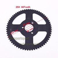 Pocket Bike 25H 66 Tooth Rear Chain Sprocket For 2 Stroke 47cc 49cc Mini Moto