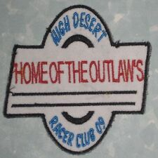 High Desert Racer Club Patch - Home of the Outlaws