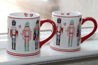 Set of 2 Sur La Table Nutcraker Small Coffee Cups Mugs Christmas