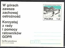 Poland 1979 -  Mountain Rescue in Poland -  Fi.736 -  postcard - unused