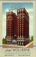 1950'S. HOTEL WOLVERINE. DETROIT, MICH. POSTCARD GG3