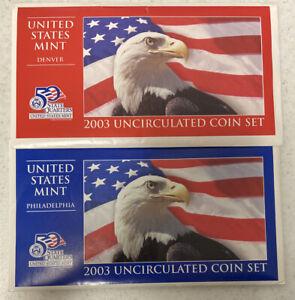 2003 P&D U.S. Mint Uncirculated Coin Set in OGP