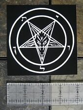 "4x4"" Pentagram Sticker - Decal Bumper Occult Baphomet Satanic Satan Leviathan"