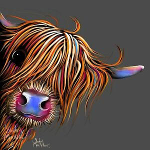 HIGHLAND CoW PRiNTS WaLL ART of Original Painting SuGaR LuMP G SHIRLEY MACARTHUR