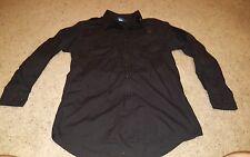 Propper Mens Size Small Regular Long Sleeve Button Zip Down Tactical Shirt Black