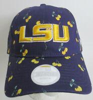 LSU Cap Hat Women Medium Louisiana State University Strapback New Era NCAA Cap