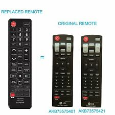 New Replaced Sound bar Remote AKB73575401 AKB73575421 for LG NB3520A NB3520ANB