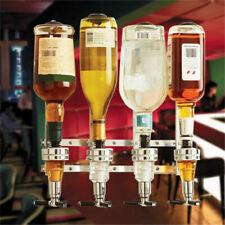Wall Mounted 4 Bottle Drinks Dispenser Optics Spirit Measure Home Bar Rack Gin