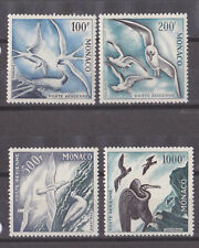 monaco 1955 Sc C41/3,C44a yvert 56/8,birds,perf.11 MNH        m1080