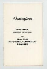 SOUNDCRAFTSMEN - PRO - EQ 22 OPERATING INSTRUCTIONS + SERVICE SCHEMATICS