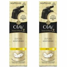 2 Olay Total Effects Pluma Hidratante 7-In-1 Spf15 Antiedad Crema 50ml