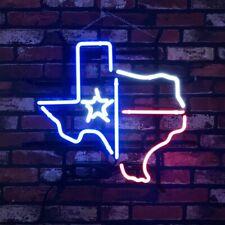 Texas Star Custom Neon Light Sign Restaurant Store Decor Real Glass Artwork
