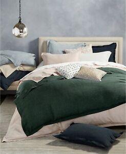 Hotel Collection 100% Linen Lightweight Duvet Cover  FULL / QUEEN  Emerald Green