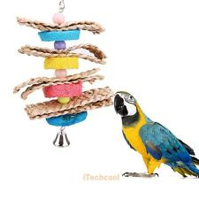 Colorful Parrot Macaw Cage Chew Toys Pet Bird Conure Swing Scratcher Bites Toy
