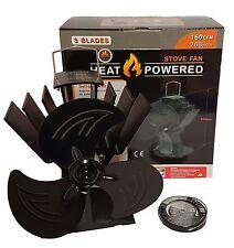 ECOFLOW MINI 3 Blade calore Powered STUFA VENTILATORE Log Bruciatore LEGNO BRUCIATORE + TERMOMETRO