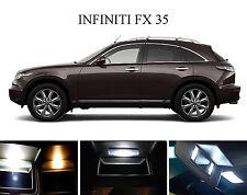 Xenon White Vanity / Sun visor  LED light Bulbs for Infiniti FX 35 FX 45 (4 Pcs)
