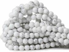 Gorgeous Natural White Howlite Round Beads Gemstone Loose Beads Jewelry Making