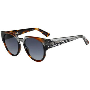 Christian Dior LADY DIOR STUDS 3 ACI Grey Havana Sunglasses Gray Lens Italy New