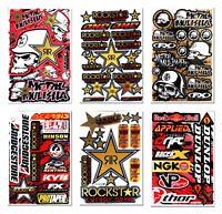 Gold Motocross Metal Mulisha Decals Rockstar MX Dirt Bike Stickers Graphics Kits