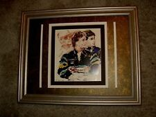 Paul Newman, Mario Andretti & Michael Andretti Framed Image by Leroy Neiman 1990