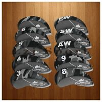 10pcs 3#-Pw Iron Golf Cover Headcovers For Titleist Mizuno Taylormade Callaway