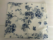 Lot of 4 Wedgwood England Blue Floral Rose Window Valances, Bed Bath Beyond
