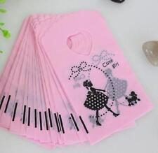 Free 50pcs Cute Girl Gift Bags Jewelry Packaging Gift Pouches Plastic 15X9cm
