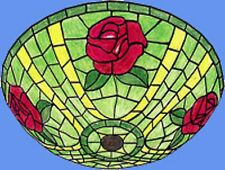 "Worden 16"" Rose on Mosaic Ceiling Worden Pattern for Molded Lamp Gf16-18"
